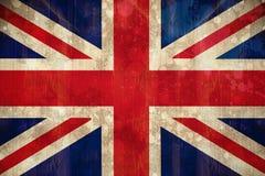 在难看的东西作用的英国国旗旗子 免版税图库摄影