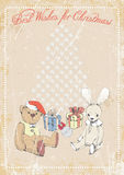 在难看的东西背景的圣诞节图片与文本的空间 例证 免版税库存图片