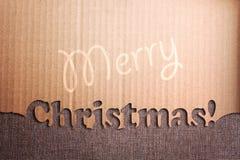 在难看的东西背景的圣诞节装饰 免版税图库摄影