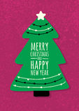 在难看的东西背景的抽象传染媒介绿色冷杉木 圣诞节o 库存照片