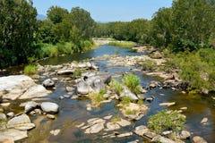 在雀科哈顿峡谷附近的牛小河在澳大利亚 免版税图库摄影