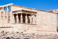 在雅典娜耐克雅典寺庙的看法在上城 雅典娜,希腊- 20 04 2016年 免版税库存图片