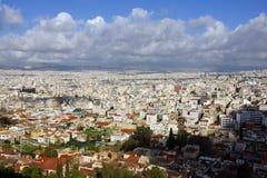 在雅典的视图 库存照片