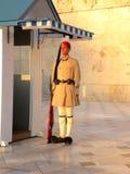 在雅典附近,希腊的议会的战士 库存照片
