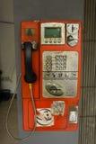 在雅加达拍的墙壁照片的未使用的电话亭吊印度尼西亚 库存图片