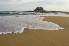 在雅拉国家公园的金黄海滩 库存图片