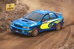 在集会展示期间的Subaru Impreza 库存图片