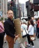 在集会的媒介反对唐纳德・川普和白种人霸权, NYC, NY,美国 免版税库存图片