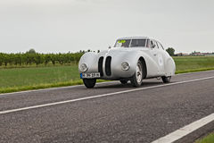 在集会Mille Miglia的BMW 328 2013年 免版税图库摄影