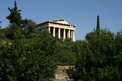 在集市的寺庙,希腊 免版税库存照片