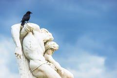 在雕象打鸣斯巴达克誓言在Pa的Tuileries庭院里 库存图片