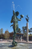 在雕刻家卡尔Milles的Millesgarden的著名雕象 免版税库存照片