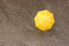 在雨中在伞下 免版税库存图片