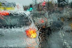 在雨中 免版税库存图片