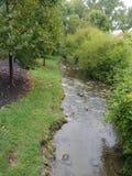 在雨以后的小湾河床 图库摄影