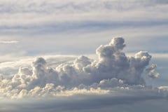 在雨前的云彩 库存照片