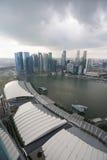 在雨前的雨云在新加坡 免版税图库摄影