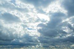 在雨前的Cloudscape 库存照片