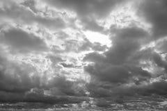 在雨前的Cloudscape 图库摄影