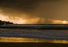 在雨的展望期 图库摄影