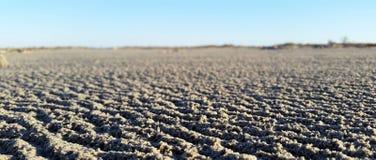 在雨风暴以后的沙子 库存照片