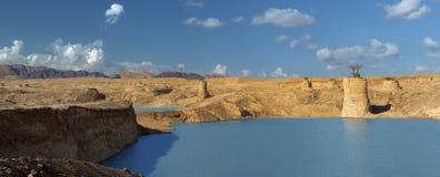 在雨,埃拉特,以色列以后的沙漠 免版税库存照片