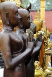 在雨以后的伟大的菩萨雕象 免版税库存图片