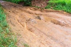 在雨以后的土路 免版税库存图片