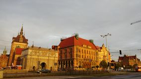 在雨以后的波兰街道 库存图片