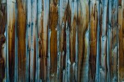 在雨以后的老蓝色木纹理 免版税图库摄影