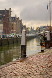 在雨以后的荷兰港 免版税库存图片