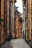 在雨以后,斯德哥尔摩老镇,斯德哥尔摩,瑞典 图库摄影