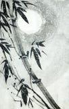 在雪下的竹子 向量例证