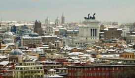 在雪之下的罗马 库存图片