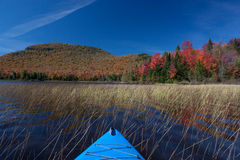 在雪松河流程的秋天桨 免版税库存照片