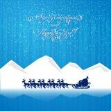 在雪橇的圣诞老人乘驾 皇族释放例证