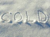 在雪的信函 库存照片