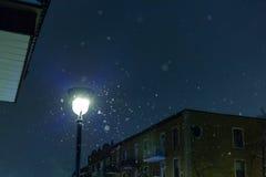 在雪的光 图库摄影