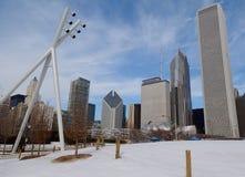 在雪的地平线 免版税图库摄影