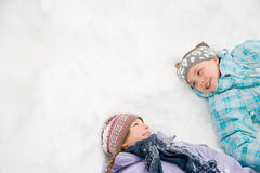 在雪的女孩 库存图片