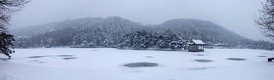 在雪的挂接Lu 图库摄影