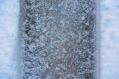 在雪的标记 免版税库存照片