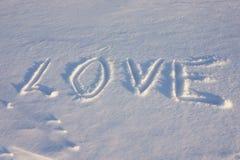 在雪的爱 免版税库存照片