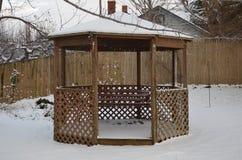 在雪的眺望台 免版税图库摄影