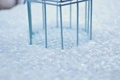 在雪的笼子 库存照片