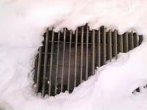 在雪的花格 图库摄影