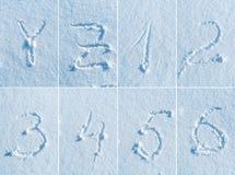 在雪的英语字母表-字体集合 免版税图库摄影