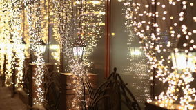 在雪的街灯在晚上 股票视频