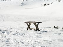 在雪的表 库存照片