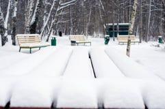 在雪的表 免版税图库摄影